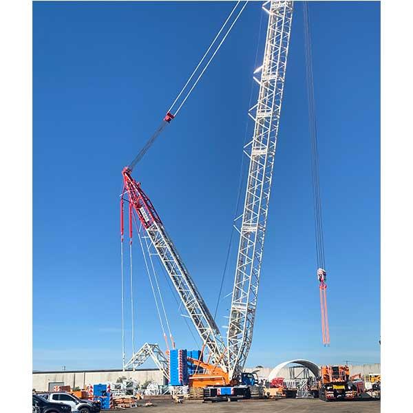 Crane hire 650t Demag Crawler