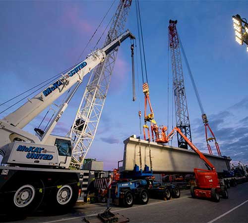 mobile crane Bridges australia