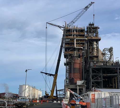 mobile crane Petro Chemical australia