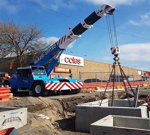 mobile crane Rail australia