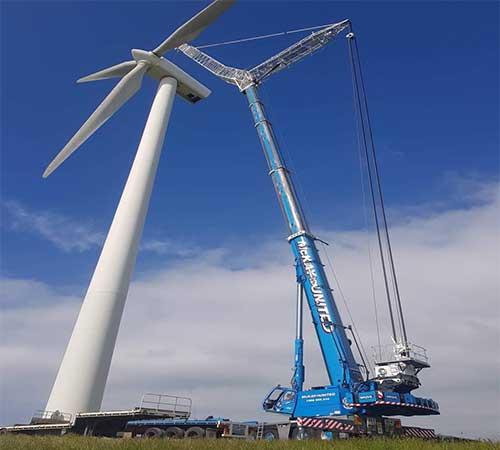 mobile crane Wind australia