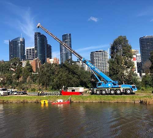 mobile crane Water australia